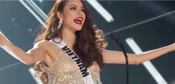 Hoa hậu Hoàn vũ 2015: Mãn nhãn nhan sắc của Phạm Hương trong đêm bán kết 18