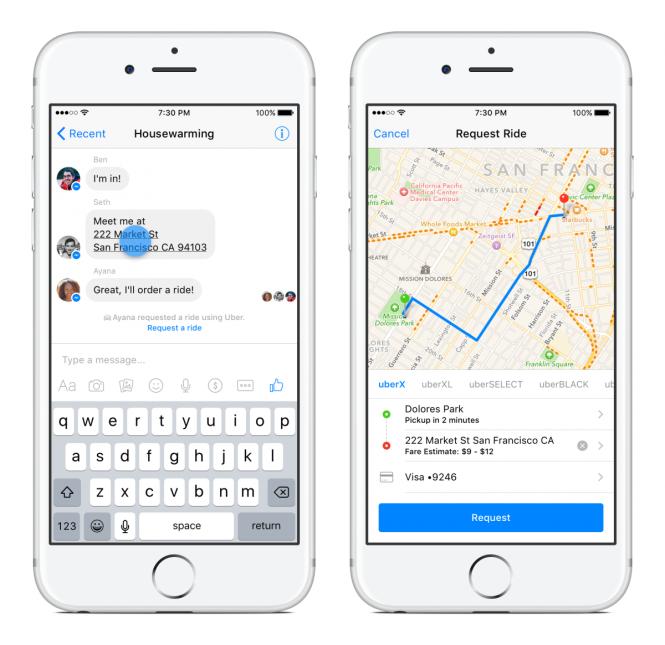 Đã có thể gọi Uber trực tiếp trên Facebook 2