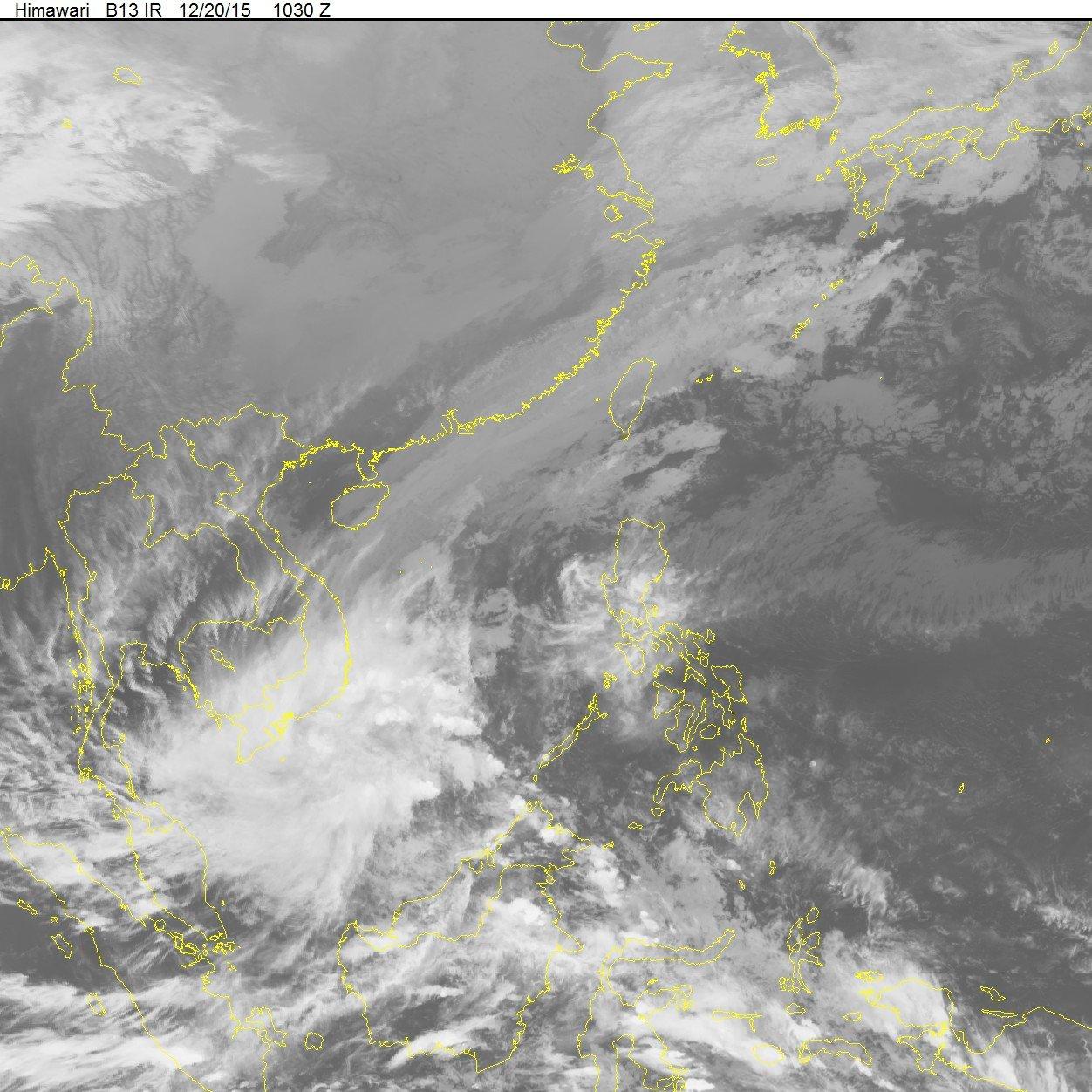 Xuất hiện áp thấp nhiệt đới giật cấp 8 trên Biển Đông 1