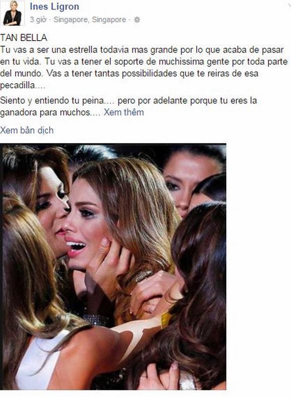 Bà trùm Hoa hậu an ủi Miss Colombia: 'Với tôi bạn vẫn là người chiến thắng' 1