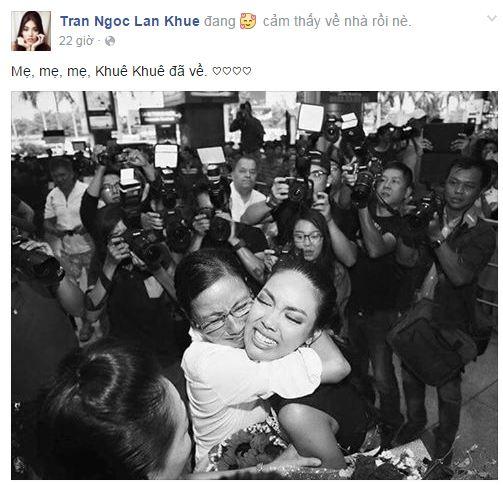 Facebook sao Việt: Thu Minh khoe dáng 'cạnh tranh' với Hoa hậu Hoàn vũ 2