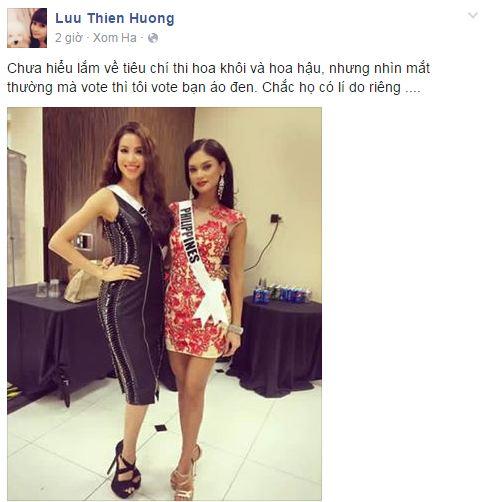 Facebook sao Việt: Thu Minh khoe dáng 'cạnh tranh' với Hoa hậu Hoàn vũ 11