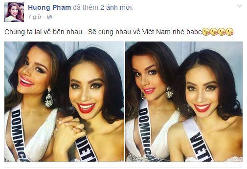 Facebook sao Việt: Thu Minh khoe dáng 'cạnh tranh' với Hoa hậu Hoàn vũ 3