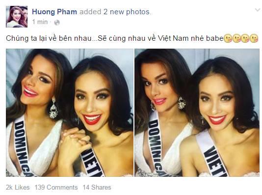 Trượt hoa hậu, Phạm Hương rủ người đẹp Dominican về Việt Nam 1