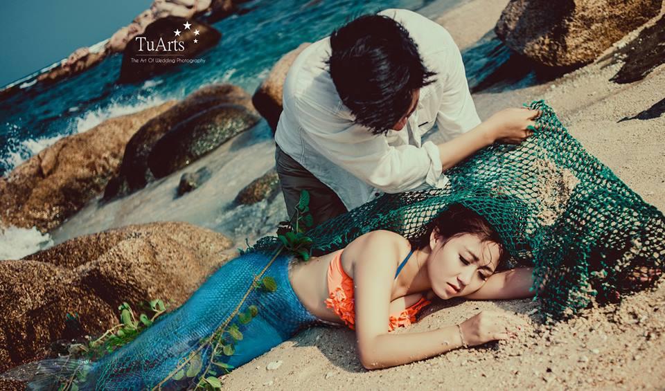 Hình ảnh Trọn bộ ảnh cưới nàng tiên cá gây xôn xao số 6
