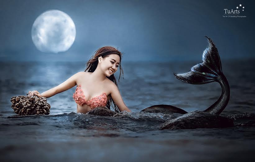 Hình ảnh Trọn bộ ảnh cưới nàng tiên cá gây xôn xao số 2