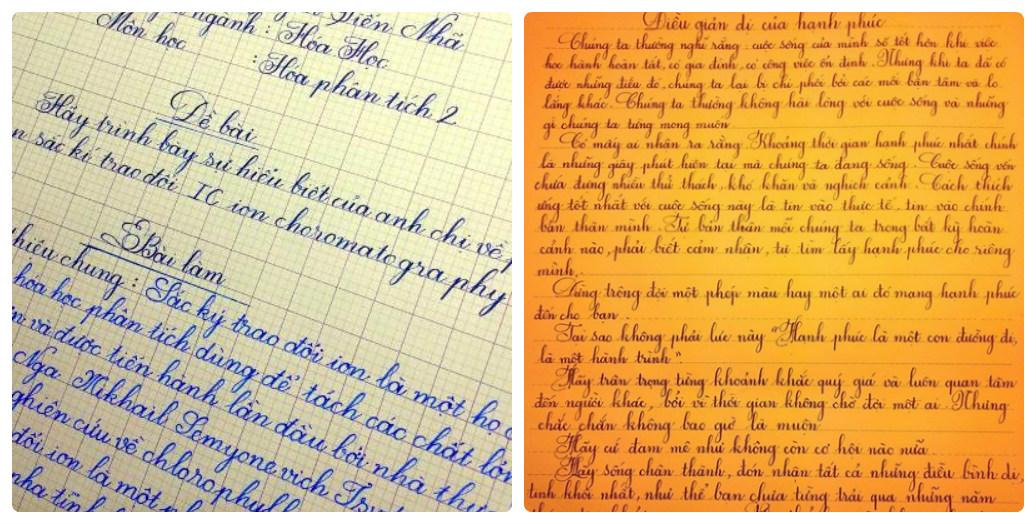Chân dung nam sinh xứ Nghệ viết chữ đẹp như in 2