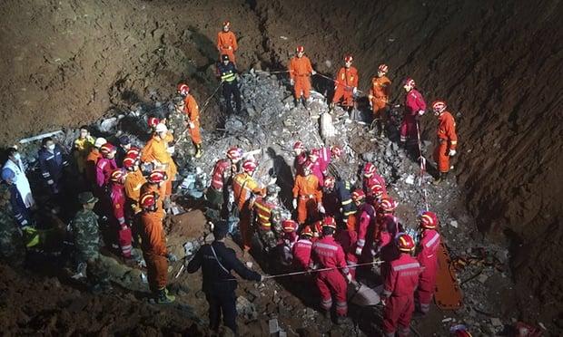 Video: Tìm thấy người sống sót trong vụ lở đất ở TQ sau gần 3 ngày 2