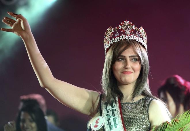 Cận cảnh nhan sắc Hoa hậu Iraq bị IS dọa bắt cóc 3