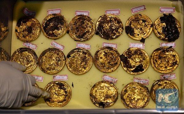 Trung Quốc tìm được số tiền vàng kỷ lục khi khai quật mộ vua 3