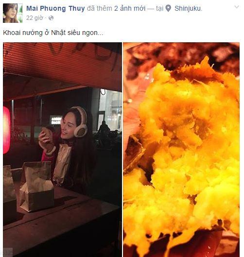 Facebook sao Việt: Phạm Hương thức đêm ngắm hoa fan tặng 8