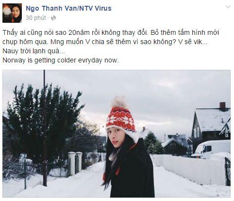 Facebook sao Việt: Phạm Hương thức đêm ngắm hoa fan tặng 9