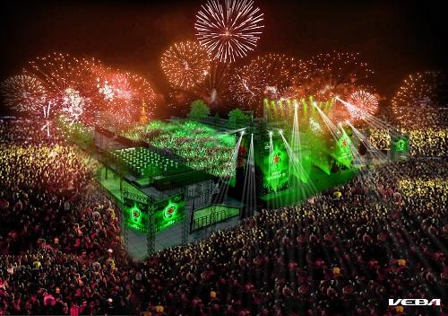 Tưng bừng bước sang 2016 với Heineken Countdown Party 1