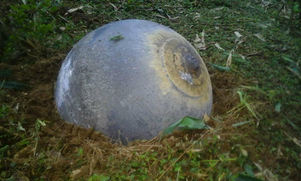 Hình ảnh Vật thể lạ rơi ở Yên Bái, Tuyên Quang: Có chữ tiếng Nga số 1