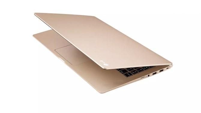 Hình ảnh LG ra laptop nhái y hệt MacBook vàng của Apple số 2