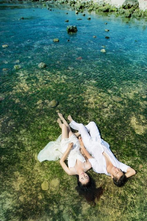 Vân Trang khoe ảnh cưới lãng mạn trên biển 8