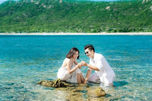Vân Trang khoe ảnh cưới lãng mạn trên biển 6
