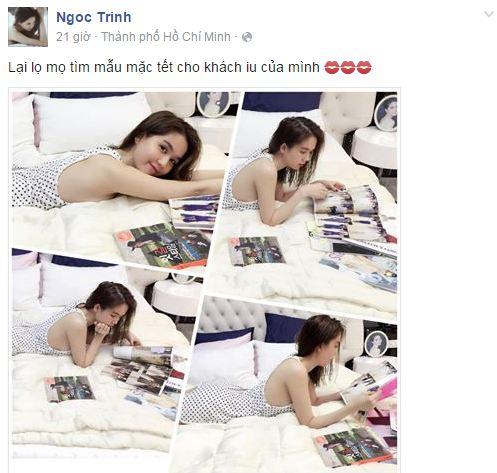 Facebook sao Việt: Ngọc Quyên khoe con trai mới sinh 2