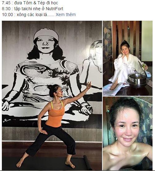 Facebook sao Việt: Phan Hiển khoe ảnh địu con đi chơi 7