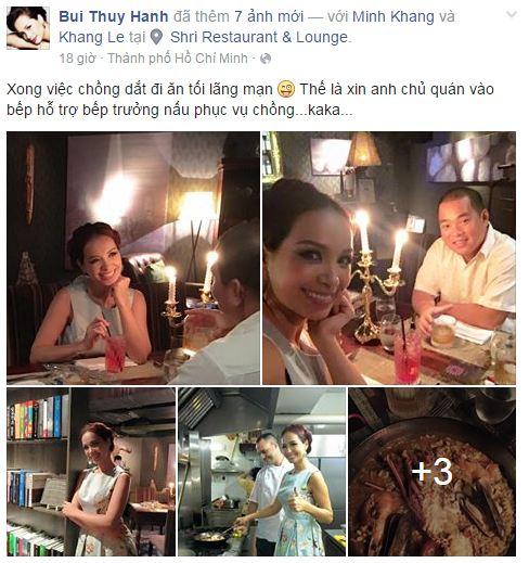 Facebook sao Việt:  Hoa hậu Diễm Hương hạnh phúc bên con trai 6