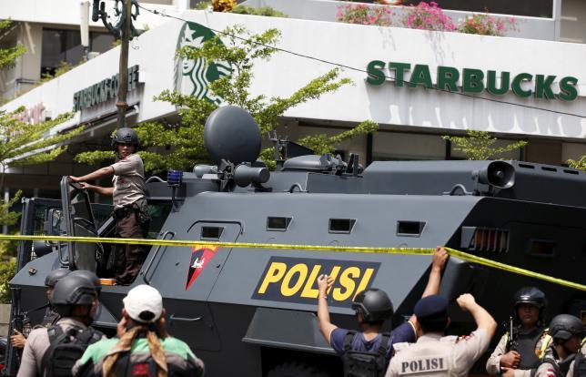 Nổ liên tiếp ở Jakarta: Đấu súng kết thúc, 5 kẻ tấn công bị tiêu diệt 1