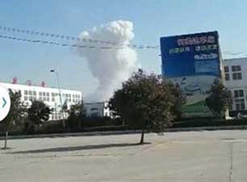 Trung Quốc: nổ nhà máy pháo hoa, 12 người thương vong 1