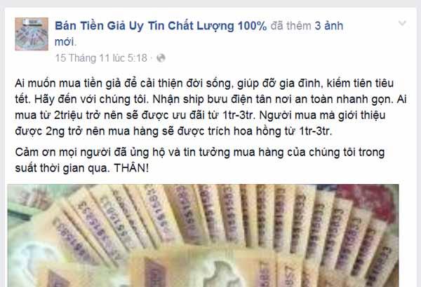 Nhan nhản lời rao bán 'bỏ 1 triệu mua 5 triệu tiền Việt' 1
