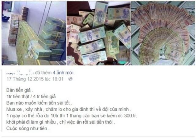 Nhan nhản lời rao bán 'bỏ 1 triệu mua 5 triệu tiền Việt' 3