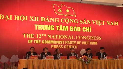BTC Đại hội XII của Đảng tổ chức họp báo 1
