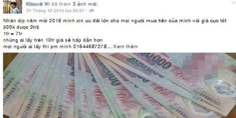 Nhan nhản lời rao bán 'bỏ 1 triệu mua 5 triệu tiền Việt' 4