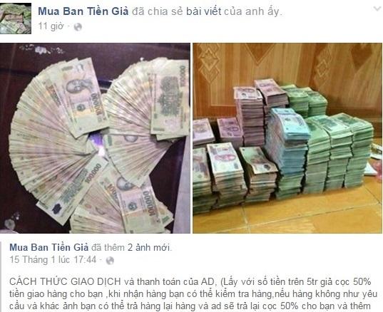 Nhan nhản lời rao bán 'bỏ 1 triệu mua 5 triệu tiền Việt' 5