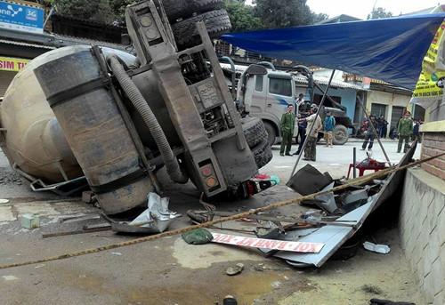 Tình tiết mới vụ xe bồn trượt dốc đè chết 2 người ở Nghệ An 1