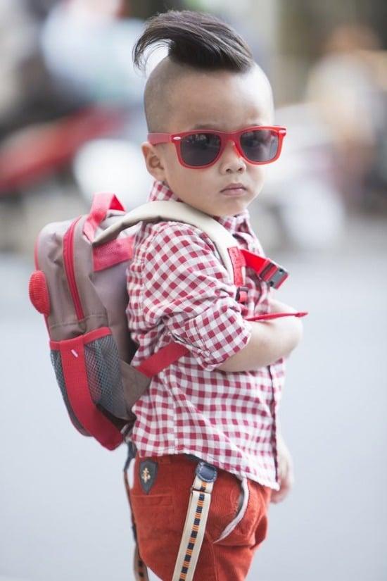 Con trai Đỗ Mạnh Cường sành điệu như fashionista 3
