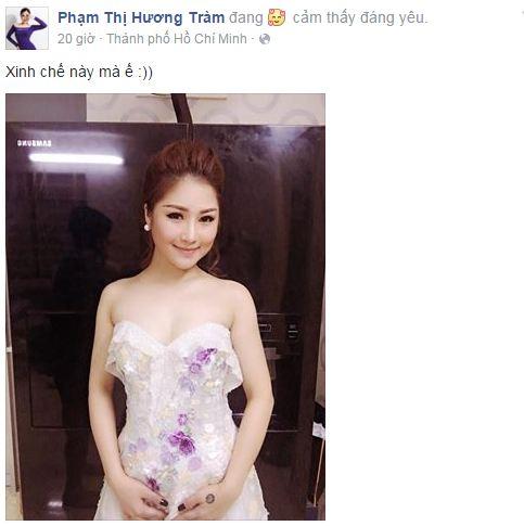 Facebook sao Việt: Ngọc Trinh đỏ rực đón xuân, Nhã Phương sắc sảo, quyến rũ 5