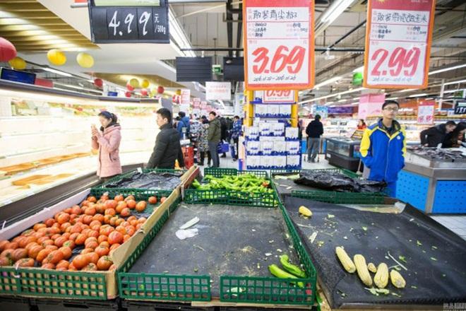 Siêu thị Trung Quốc trống trơn vì dân vét sạch đồ trước đợt rét kỷ lục 5