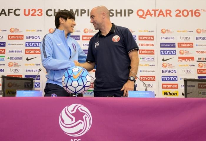 Bán kết VCK U23 châu Á 2016: U23 Hàn Quốc đấu với Qatar 1