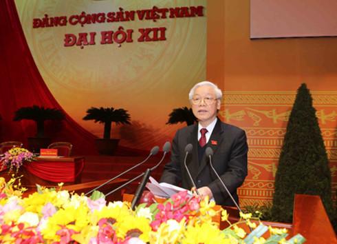 Diễn văn bế mạc Đại hội XII của Tổng Bí thư Nguyễn Phú Trọng 1