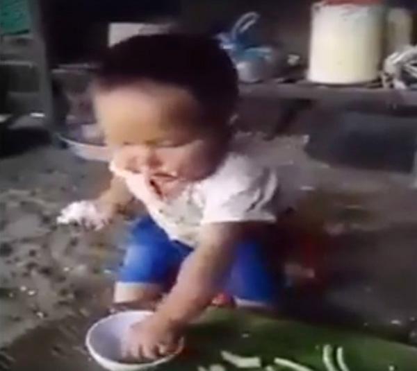 Rơi nước mắt cảnh em bé vùng cao ăn cơm chấm muối 1
