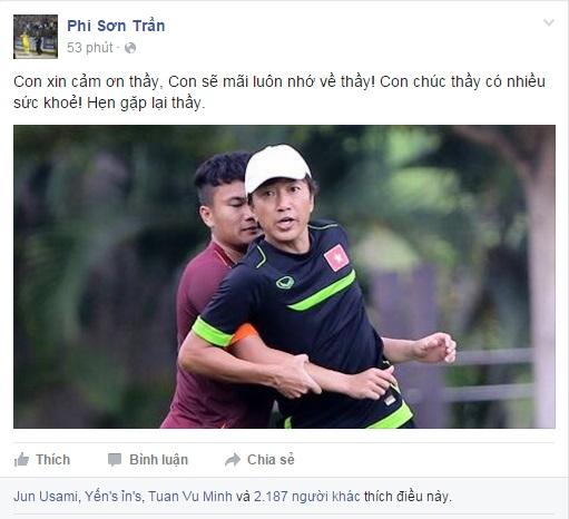 Tuyển thủ Việt Nam đồng loạt gửi lời tri ân tới HLV Miura 5