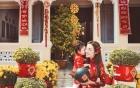 Giải trí - Mẹ con Elly Trần xinh như thiên thần rạng rỡ đón Tết