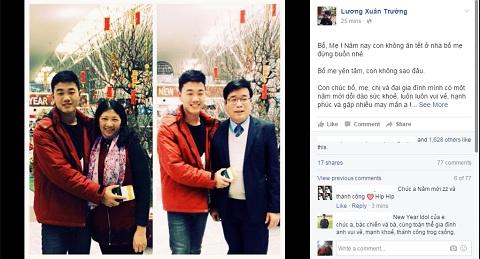 Xuân Trường gửi lời chúc Tết bố mẹ từ Hàn Quốc 1