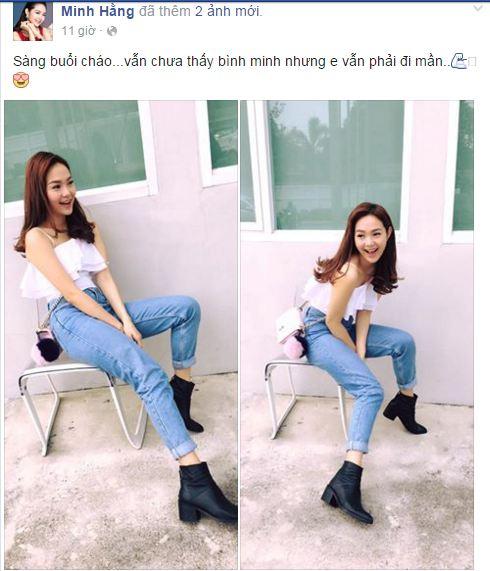 Facebook sao Việt: Quế Vân hăng hái khoe ảnh selfie giữa tin đồn tình cảm 8