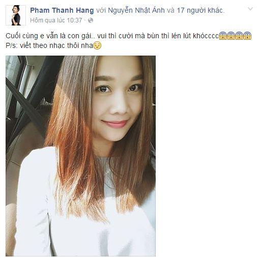 Facebook sao Việt: Phạm Hương dễ thương với mái thưa kiểu Hàn Quốc 9