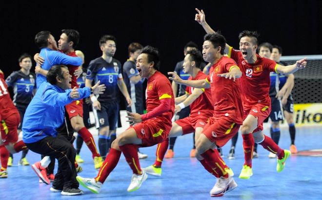 Đánh bại Nhật Bản, tuyển Futsal Việt Nam giành vé dự World Cup 2016 2