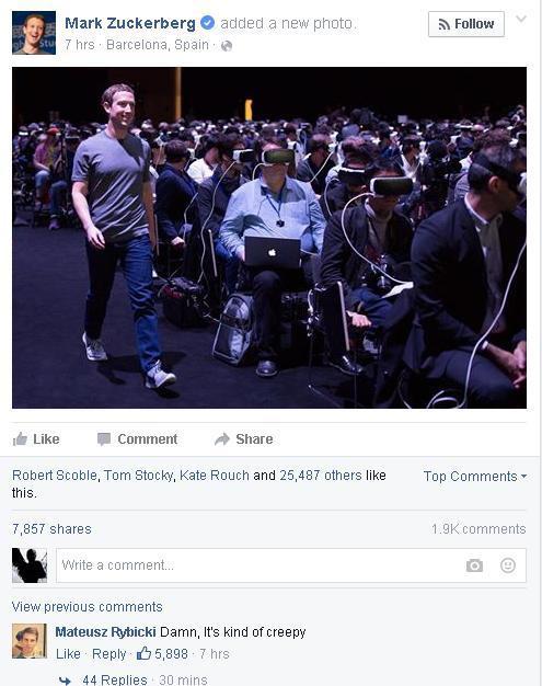 Bức ảnh chụp Mark Zuckerberg khiến cả thế giới lo sợ 1
