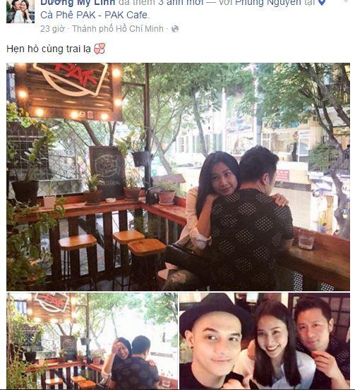 Facebook sao Việt: Bằng Kiều thân mật với bạn gái 1