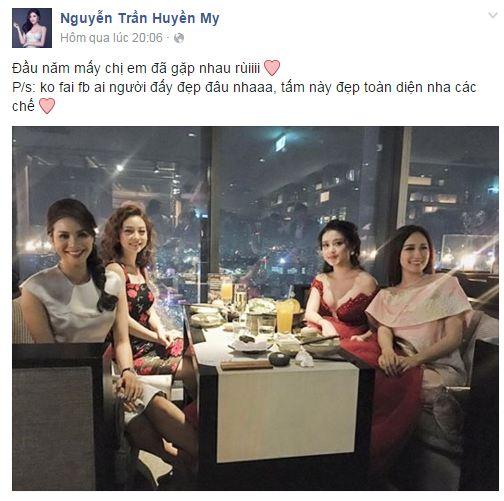 Facebook sao Việt: Huyền My hội ngộ các Hoa hậu 1
