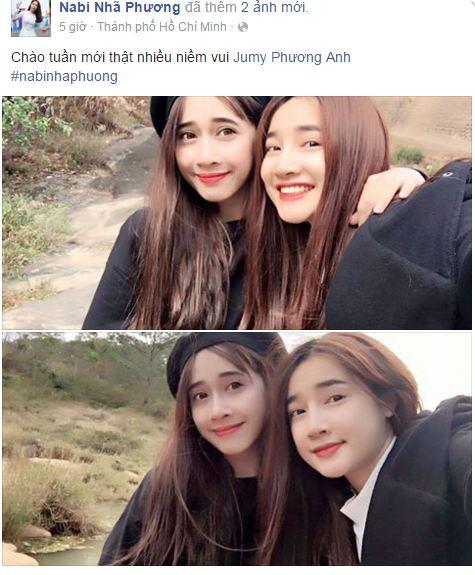 Facebook sao Việt: Nhan sắc 'một chín, một mười' của chị em Nhã Phương 1