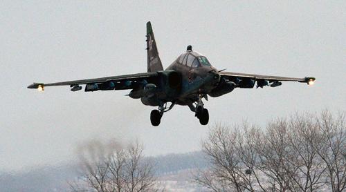 Chiến đấu cơ Su-25 của Nga rơi, phi công tử nạn 1