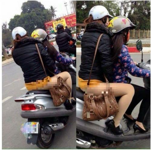 Phản cảm gái xinh 'mặc như không' trên đường phố Hà Nội 1